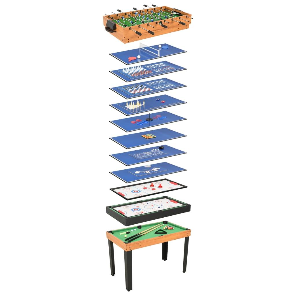Ovaj potpuni stol 15-u-1 s više igara zasigurno će unijeti puno zabave u vašu igraonicu. Sigurno će zabavljati vašu djecu satima! Ima 15 igara