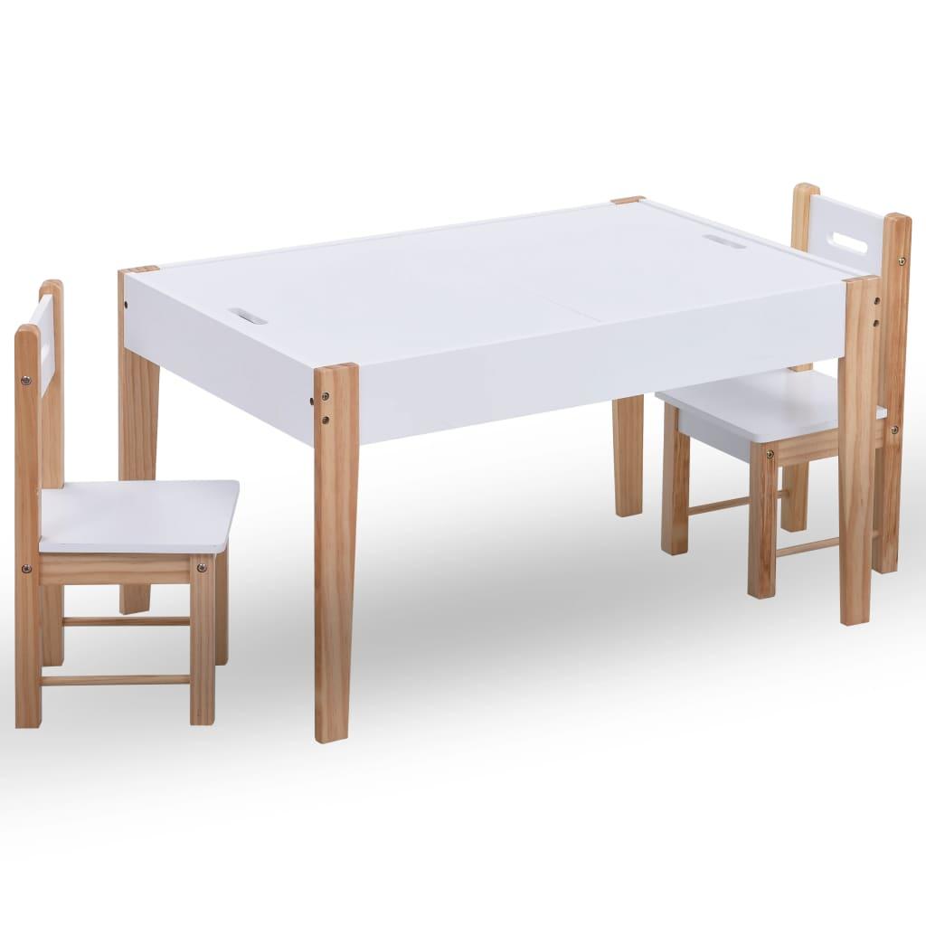 Ovaj posebni dječji set stola i dviju stolica pruža vašem mališanu vlastito mjesto za igru i vlastiti radni prostor! S čvrstom konstrukcijom od MDF-a i borovog drva s premazom neotrovne boje