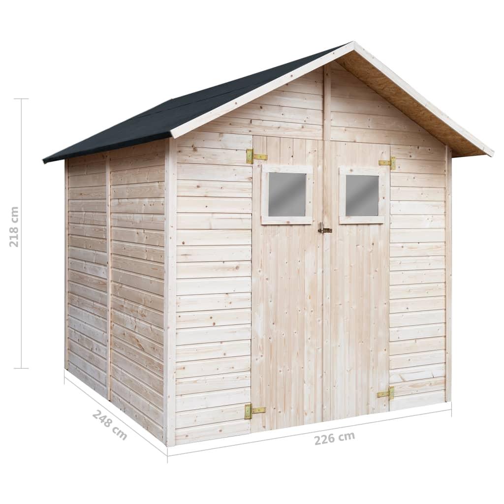 kućica je izuzetno čvrsta i izdržljiva. Dizajnirano s dva prozora na vratima
