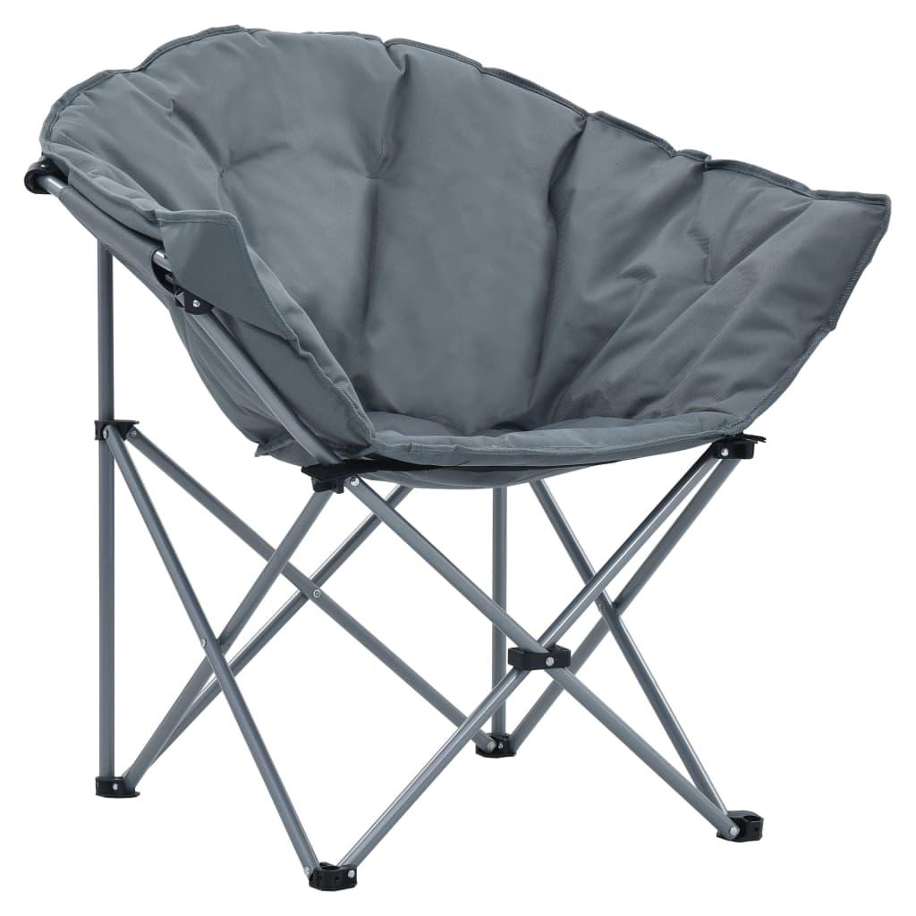 ove sklopive okrugle stolice izdržljive su i stabilne. Sjedalo od visokokvalitetne tkanine Oxford i naslon za leđa sa spužvastim punjenjem udobni su i dovoljno veliki da se udobno sklupčate. Zahvaljujući laganom čeličnom okviru i sklopivom dizajnu