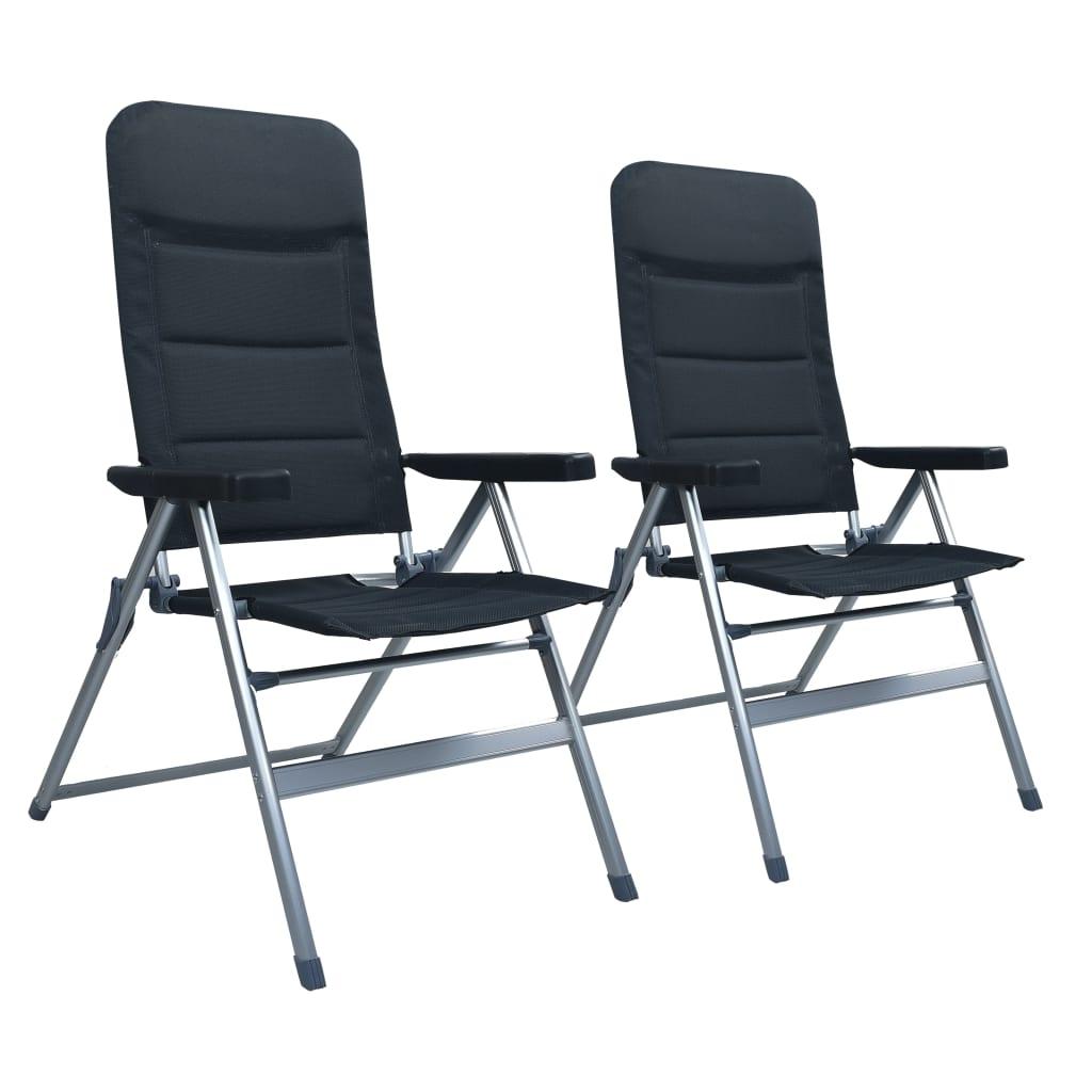 Ovaj 2-dijelni set aluminijskih nagibnih stolica idealan je za kampiranje