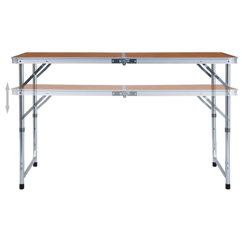 u vrtovima i na izletima ili kampiranjima. Visina stola može se podesiti na 55 cm