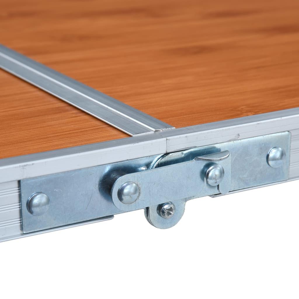 ovaj stol za kampiranje ima veliku nosivost od 30 do 50 kg. Uz metalni okvir i čvrstu stolnu ploču od MDF-a