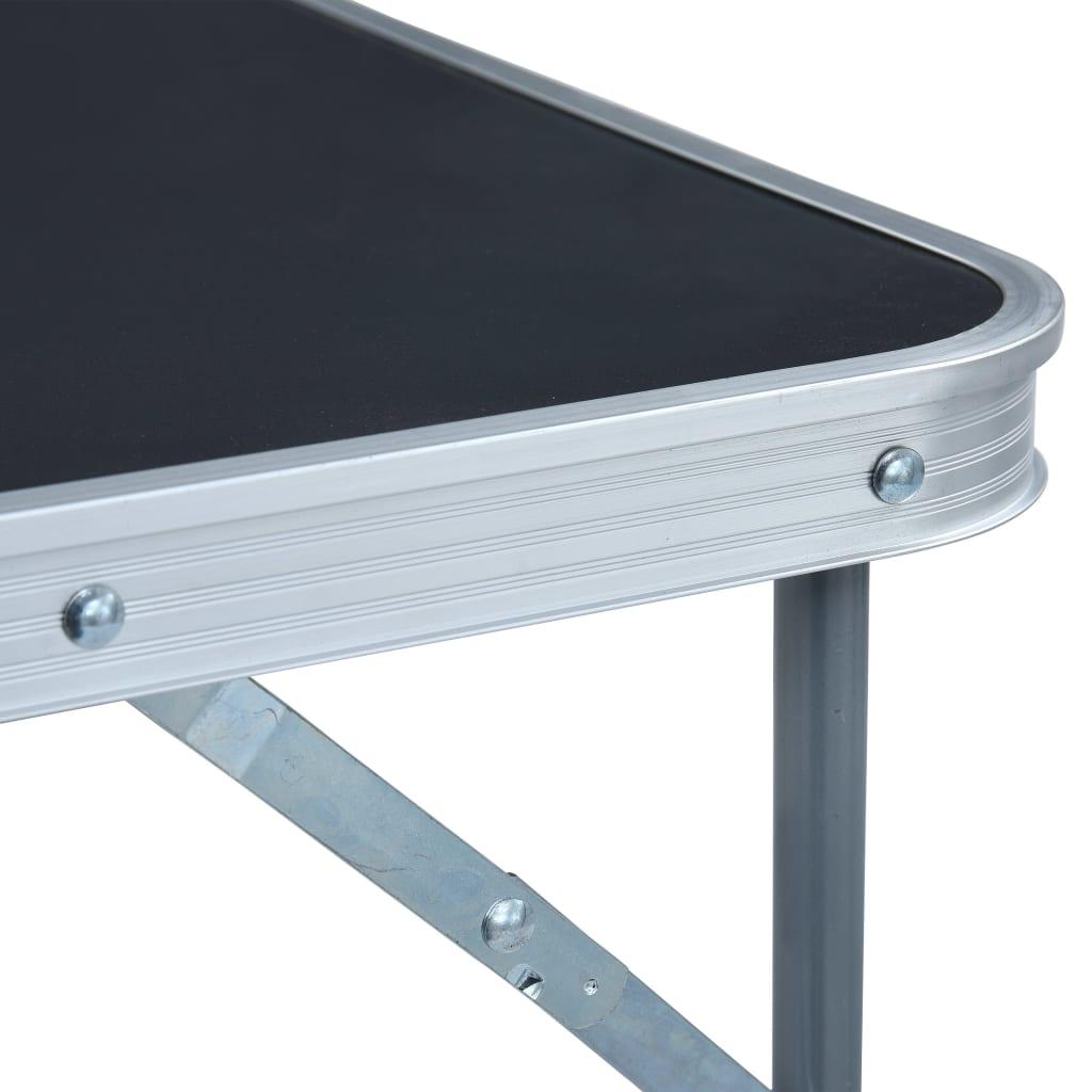 ovaj stol za kampiranje jednostavno se prenosi i može se brzo spremiti kad se ne upotrebljava. Ručka za nošenje olakšava vam da ponesete stol sa sobom kad idete na piknik ili kampiranje. Zahvaljujući čvrstoj konstrukciji