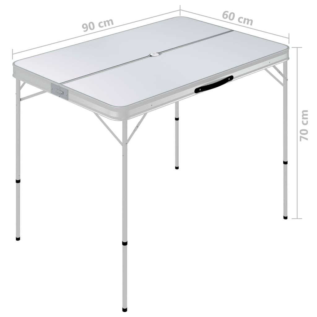 klupe se mogu spremiti u stol radi uštede prostora. Isporuka uključuje 1 stol za kampiranje i 2 klupe.