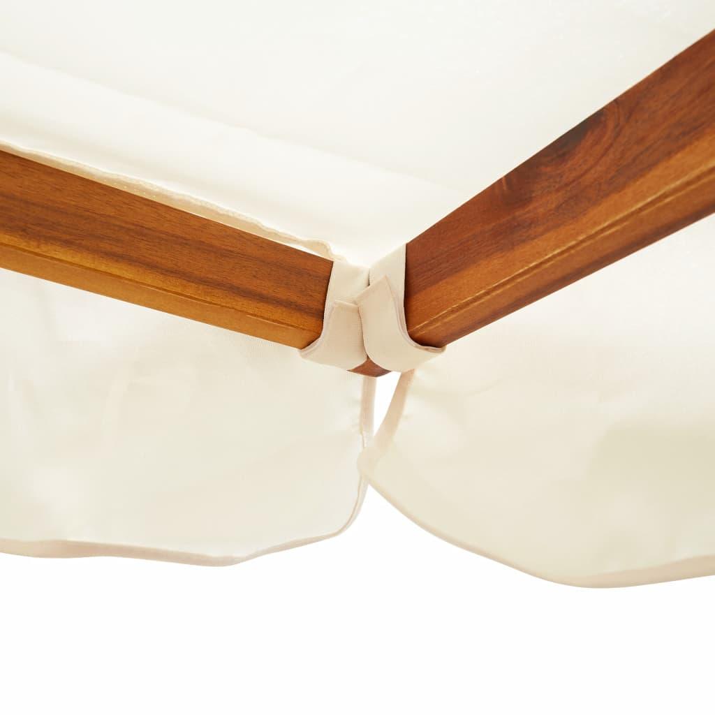 a prostrano područje za sjedenje može smjestiti 2 odrasle osobe. Ova drvena klupa za ljuljanje također se jednostavno sastavlja.
