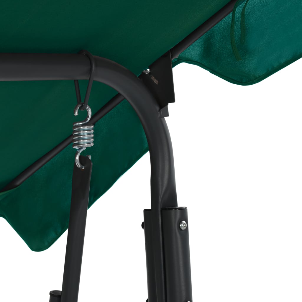 ova prekrasna vrtna sjedalica za ljuljanje osigurava hladovinu zahvaljujući velikom krovu s tendom. Sigurno ćete uživati ljuljajući se na svojoj ljuljački uz ugodan ljetni povjetarac. Naša ljuljačka koja se lako sastavlja savršen je izbor za vaš vanjski prostor!