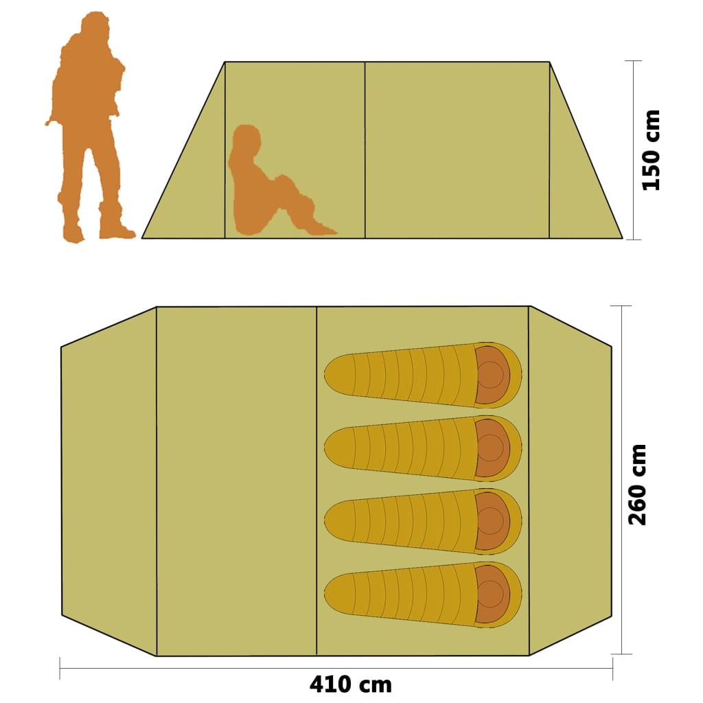 dolazi s 26 klinova i 8 konopa za dodatno učvršćivanje i sidrenje. Tunelski šator jednostavno se sastavlja.