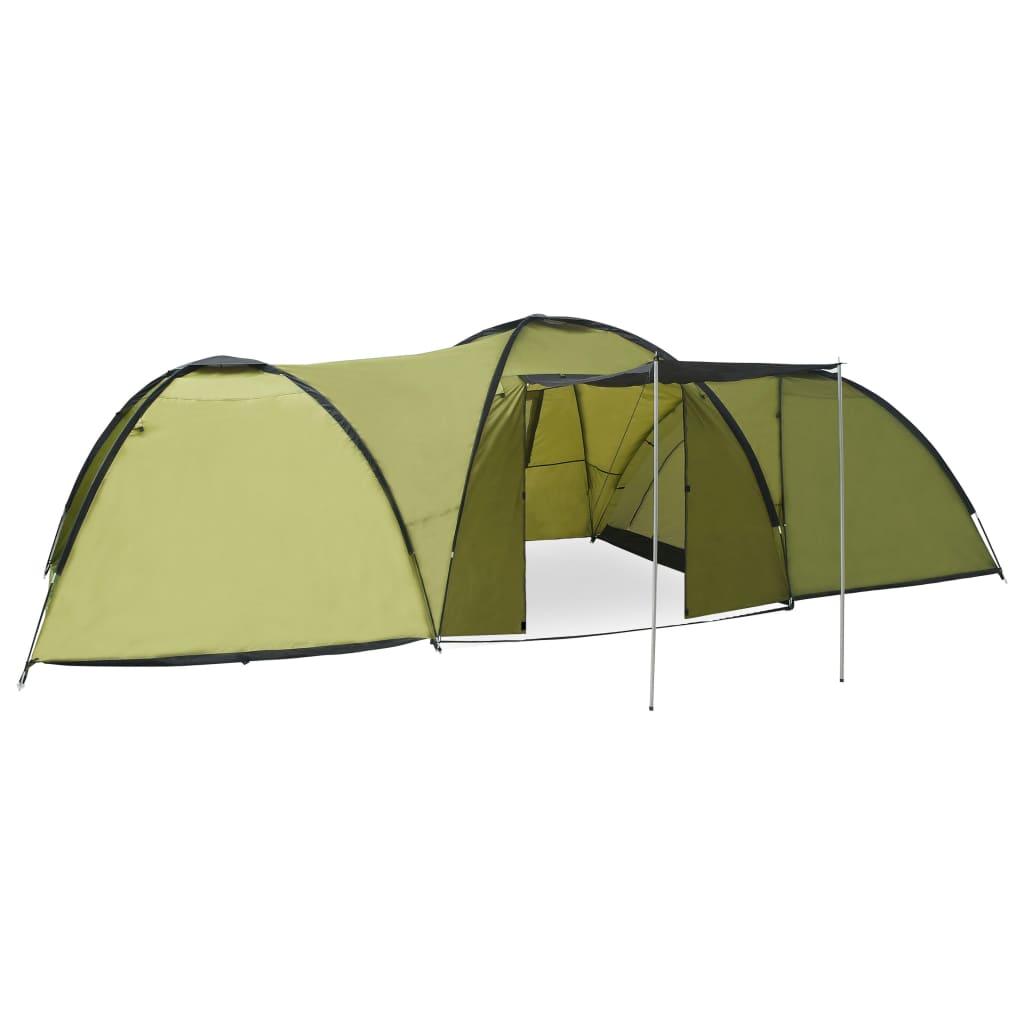 Ovaj šator za kampiranje ima dovoljno mjesta za najviše 8 osoba s prtljagom. Savršen je za obiteljski kamp s djecom ili za vikend s prijateljima. Ovaj pokrov za šator napravljen je od prozračne poliesterske tkanine 180 T s PA oblogom