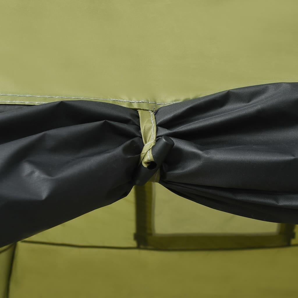 koja pomaže u blokiranju većine štetnih zraka. Podni sloj od tkanine Oxford u unutrašnjosti čvrsto je zašiven za šator protiv prljavštine i povećane vlažnosti tla. Čvrsti okvir od staklene vune osigurava stabilnost i izdržljivost. Obje strane s mrežastim prozorima osiguravaju ulazak svježeg zraka i sprječavaju ulazak kukaca. Vrata s patentnim zatvaračem omogućuju vam lak ulazak i izlazak. Također uključuje sidrene klinove za bolju stabilnost pri jakom vjetru. Isporuka uključuje putnu torbu za jednostavan transport i pohranu.