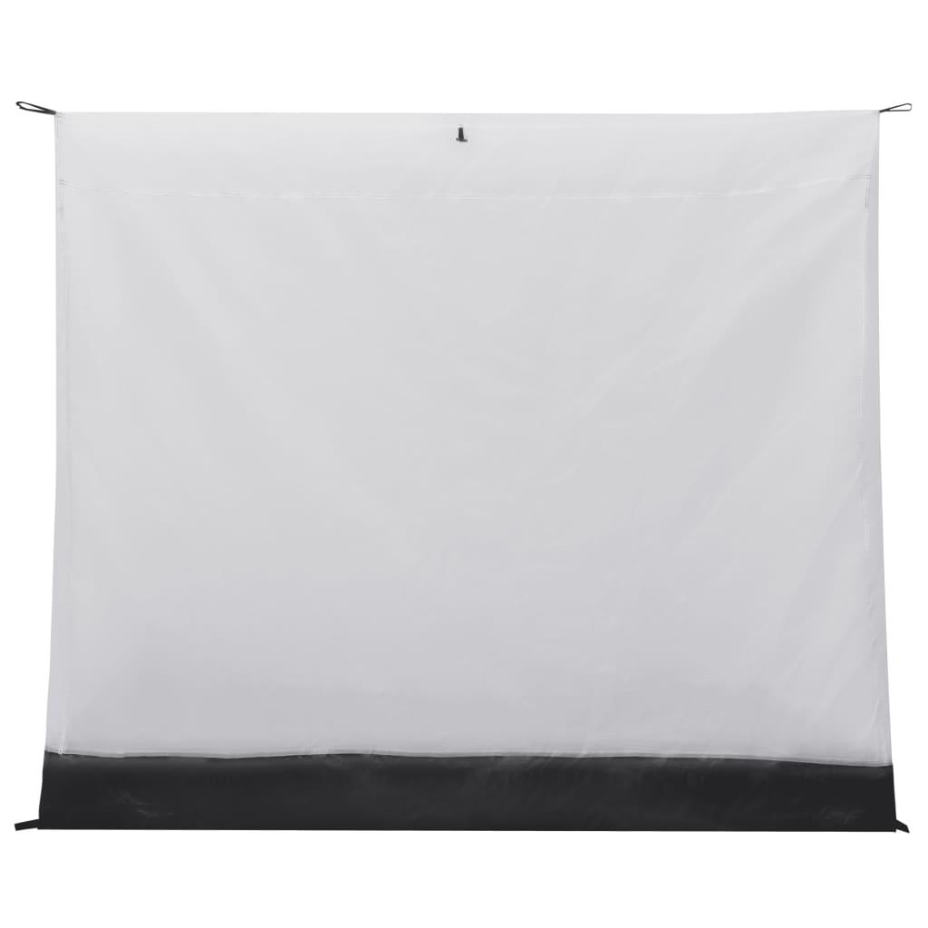što osigurava dobru ventilaciju i odgovarajuću ugodnu klimu u šatoru. Pod je izrađen od robusnog polietilena koji je izdržljiv i vodootporan. Može se brzo postaviti pomoću prekidača i udobno pristaje u vašu tendu