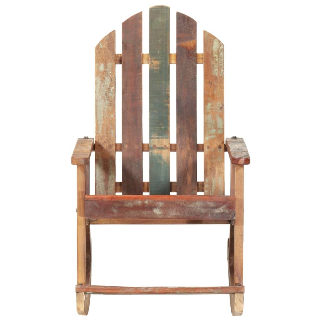 bit će praktičan i klasičan dodatak vašem otvorenom životnom prostoru. Ova stolica za ljuljanje napravljena je od masivnog obnovljenog drva