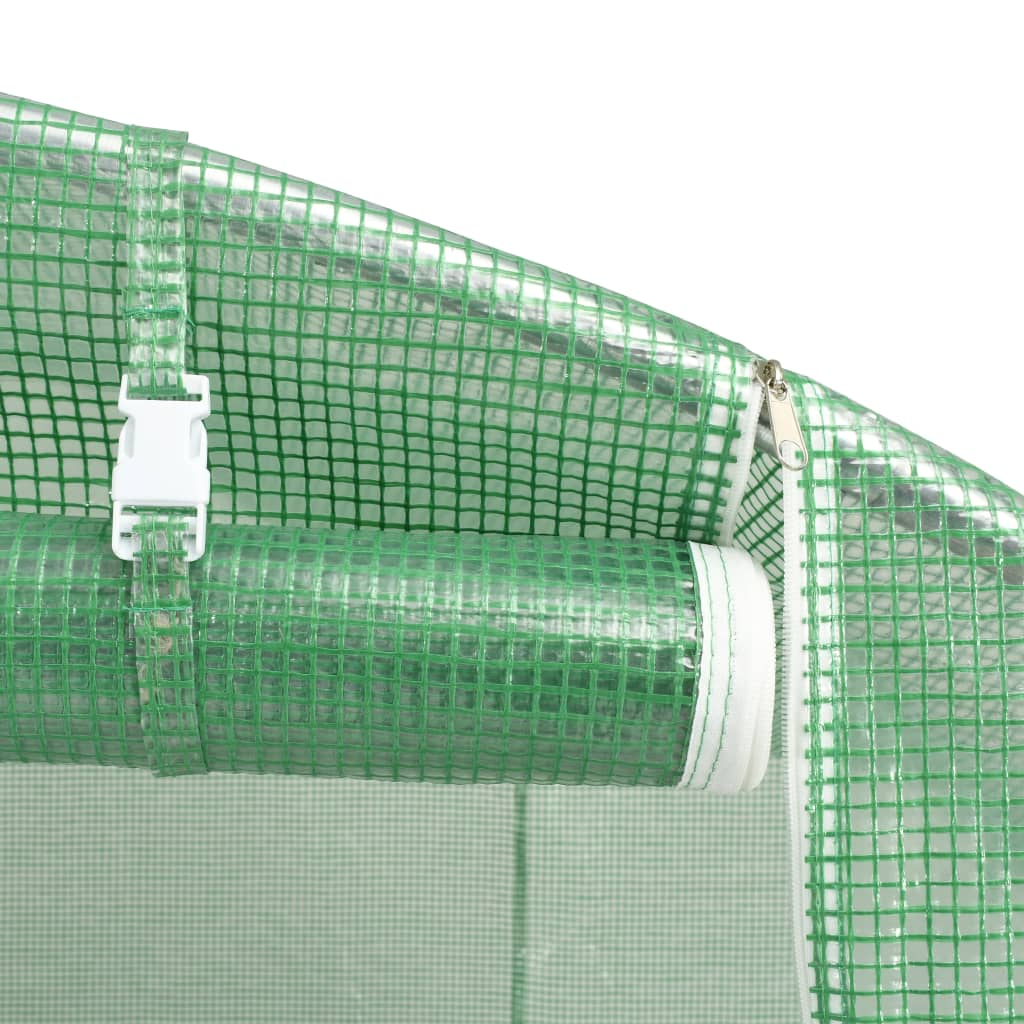 za dodatnu stabilnost. Staklenik je opremljen prozorima dimenzija 38 x 38 cm za ventilaciju