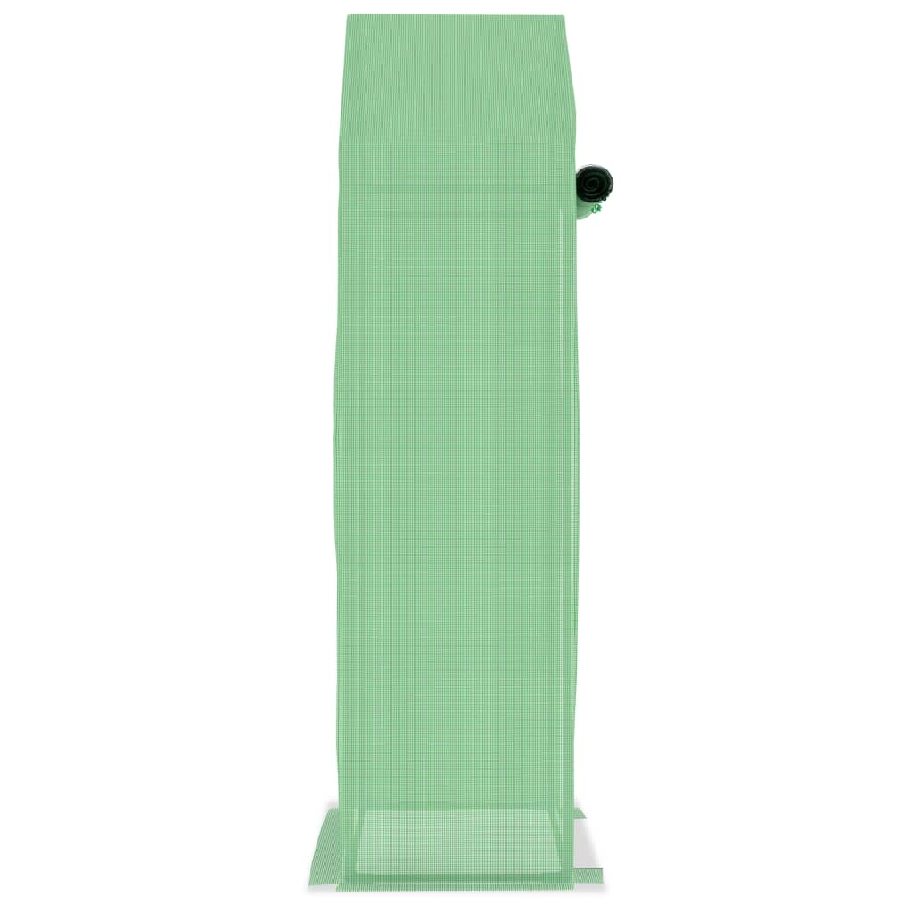 za dodatnu stabilnost. Staklenik je opremljen vratima za izvrsnu ventilaciju i lak pristup. Staklenik se lako sastavlja. Napominjemo da krov našeg staklenika ne može izdržati teške snježne padaline.