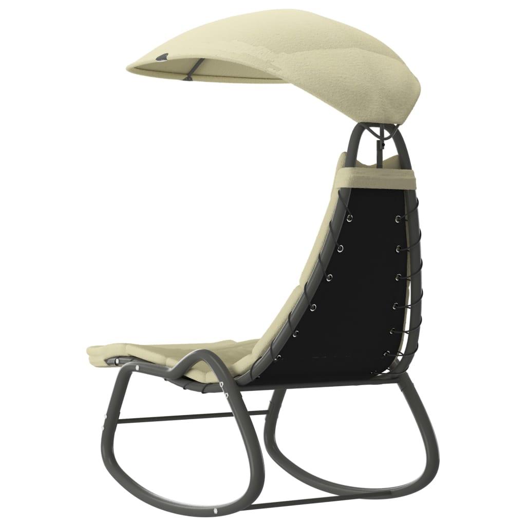 ova prekrasna vrtna ljuljačka pruža hladovinu zahvaljujući velikoj tendi. Sigurno ćete uživati ljuljajući se na svojoj stolici uz ugodan ljetni povjetarac. Naša stolica za ljuljanje jednostavno se sastavlja.