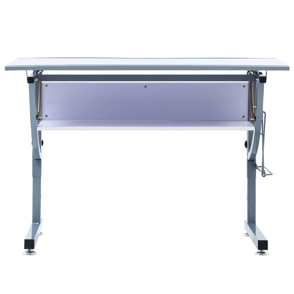 dok radnu površinu koja je otporna na ogrebotine možete nagnuti prema potrebi. Uz stol primate i praktičnu policu i držač sa strane koji će se pobrinuti za sve Vaše alate. Integrirana ravnala olakšavaju precizno mjerenje. Stol se jednostavno sastavlja.