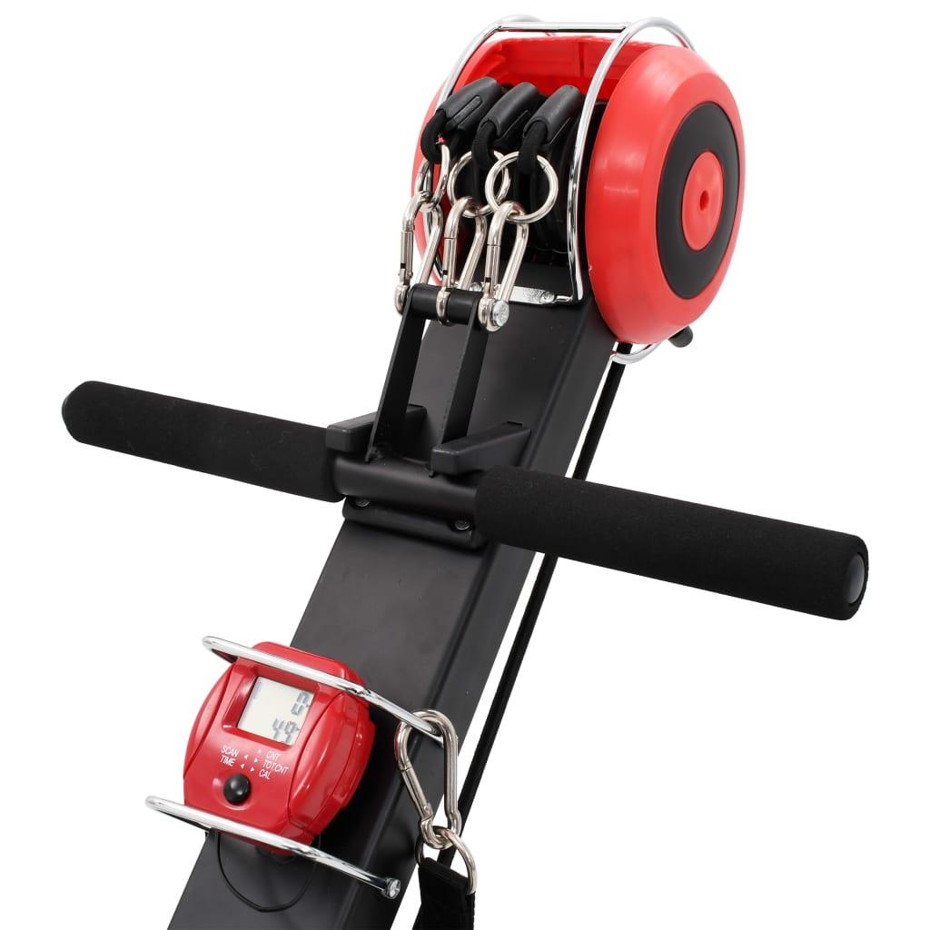 ova sprava za veslanje dizajnirana je da izdrži osobe do 100 kg. Velike okretne podloge za noge s trakama drže vaša stopala udobno i čvrsto na mjestu tijekom vježbanja. Dolazi s lako preglednim LCD zaslonom za praćenje skeniranja