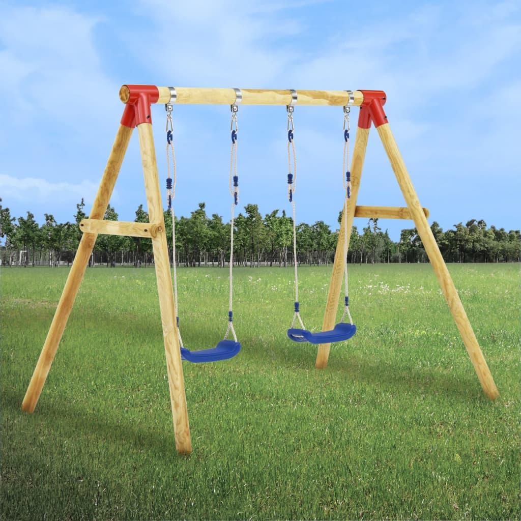 Ovaj komplet ljuljački je otporan na UV zrake i mogu postati omiljena zabava za vašu djecu! Izrađen od masivne
