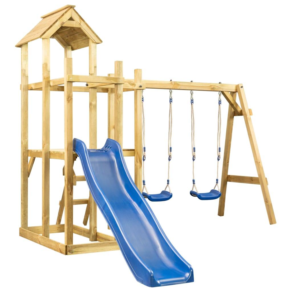možete pretvoriti svoje dvorište u očaravajuće igralište za svoje mališane! Čvrsti okvir izrađen je od impregnirane borovine. Čvrsta drvena kućica za igru izuzetno je jaka