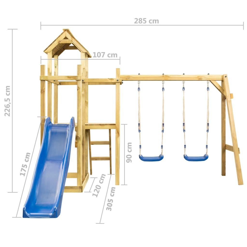 ljestve za penjanje i produžnu platformu. Vaši mališani mogu također pozvati svoje prijatelje da se pridruže zabavi. Imajte na umu da je drvo prirodni proizvod i mogu biti prisutne nesavršenosti. Za montažu je potrebna bušilica. Kako bis e osigurala čvrstu strukturu