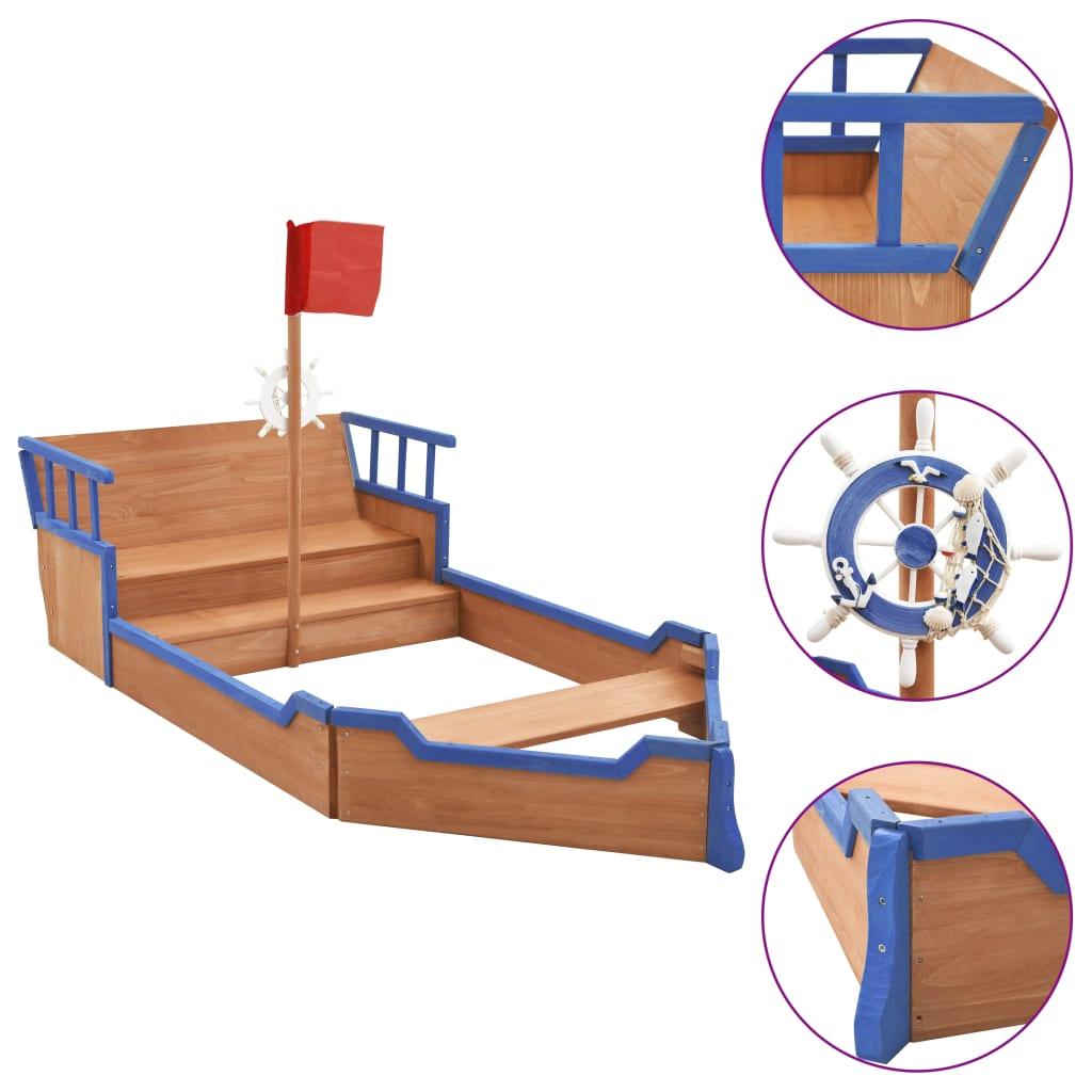 Naš fantastični drveni pješčanik s neuobičajenim dizajnom gusarskog broda savršena je oprema za igru i zabavu na otvorenom jer će potaknuti vašu djecu da se igraju vani