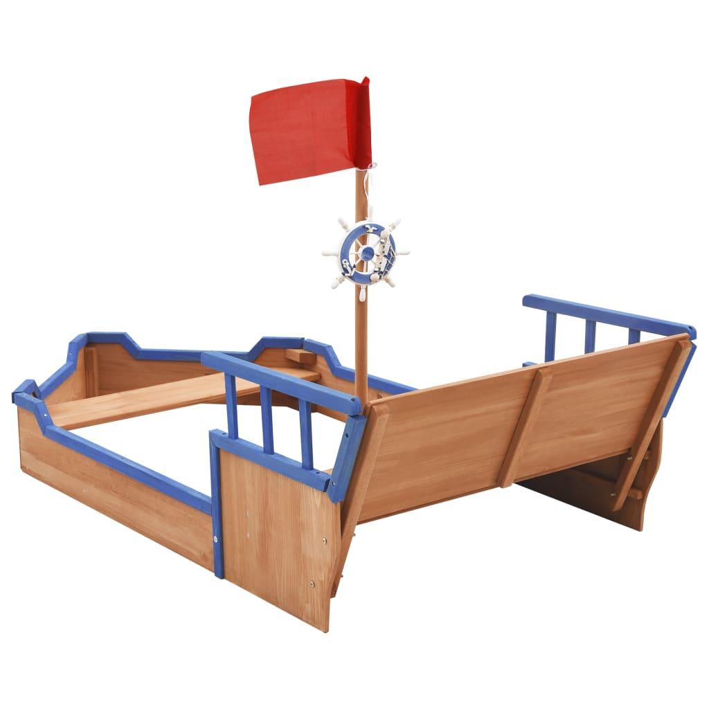 a vaši mališani mogu se zamišljati kao kapetani. Neka uživaju u satima kreativne igre uz ovaj drveni pješčanik! Napomena: Drvo je prirodni proizvod i može sadržavati nesavršenosti.