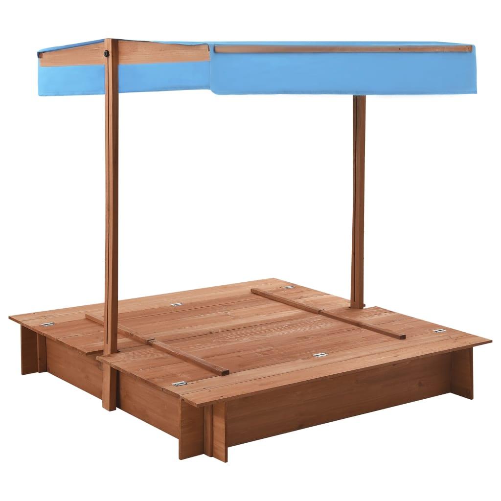 pješčanik je dizajniran s podesivim krovom koji štiti djecu od jakog sunca. U isporuku je uključena i najlonska cerada koja štiti pješčanik vaše djece od rasta korova