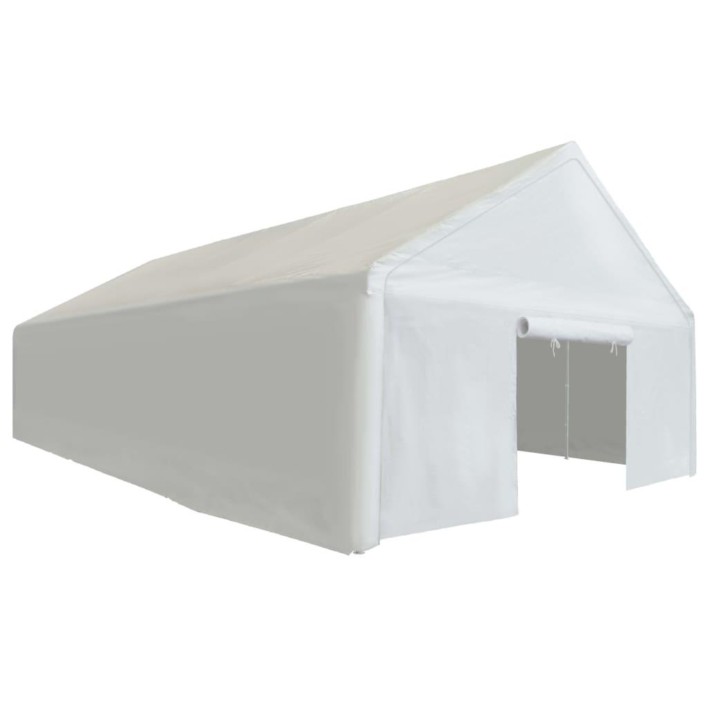 zbog čega su njegov krov i bočni zidovi vodootporni. Dva panela s vratima na dva kraja šatora mogu se zarolati radi lakog ulaska. Okvir je izrađen od pocinčanog čelika otpornog na hrđu