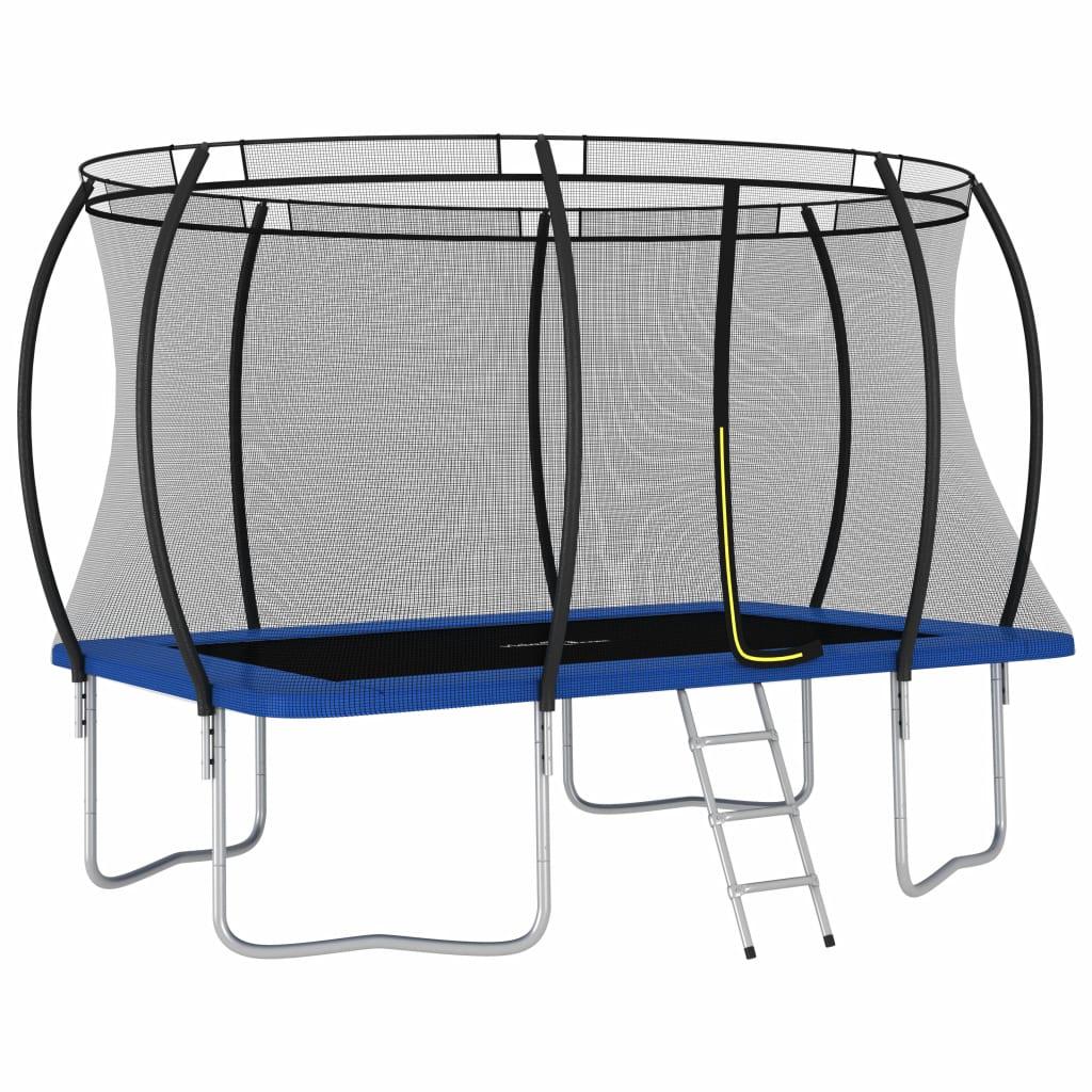 Ludo se zabavite i skačite uz naš pravokutni trampolin! Naš set trampolina uključuje sigurnosnu mrežu