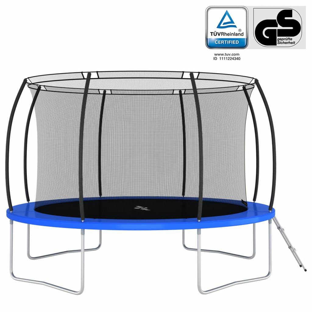 trampolin je opremljen visokokvalitetnom podlogom od PVC-a s 18 mm pjene EPE kako bi jamčio sigurnost vašoj djeci kad slučajno dođu do ruba trampolina. Ova kombinacija skakanja i odskakivanja ima ljestve s 2 prečke
