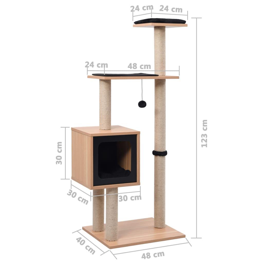 odakle im se pruža bolji pogled. Naš namještaj za mačke dizajniran je s udobnom kućicom u kojoj vaša mačka može drijemati. Jastuci ovog tornja za mačke mogu se skinuti i oprati. Uz to