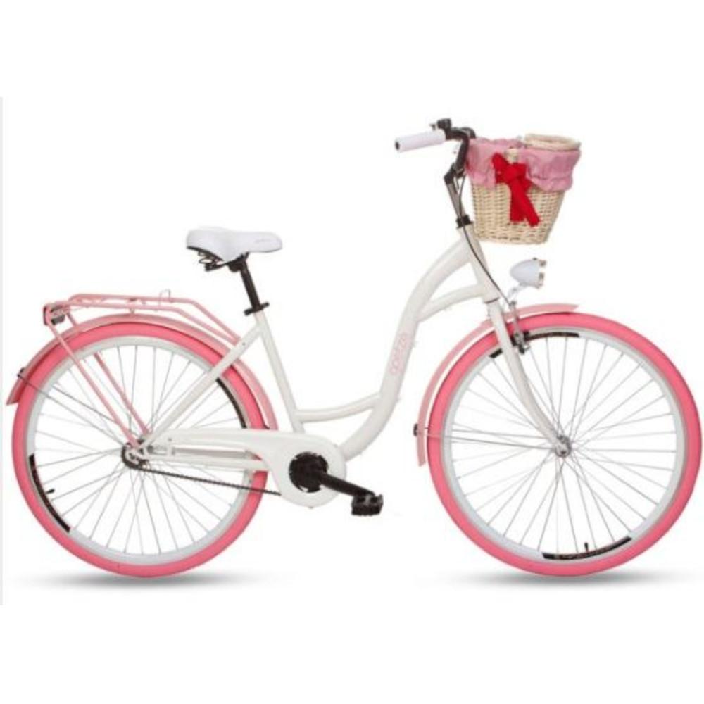 Ženski gradski bicikl, široko sjedalo sa oprugama