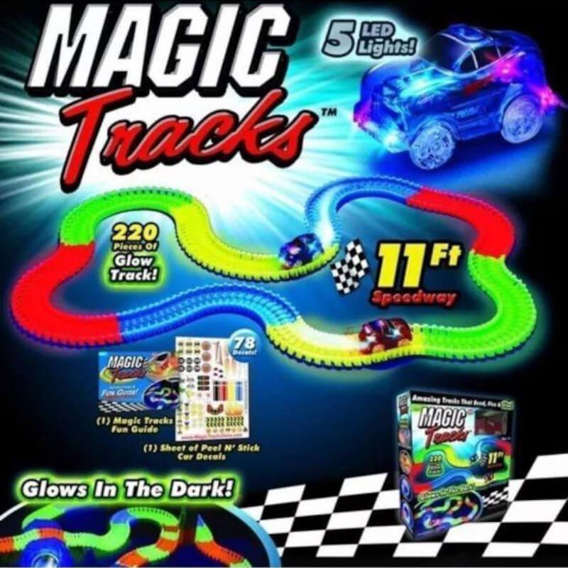 MagicTracks, zabavni set za gradnju sa dva autića na baterije